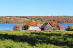 Landshus n New Brunswick, Kanada royaltyfri fotografi