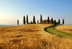 landshus tuscany Arkivfoton