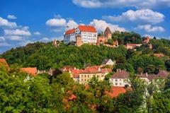 Landshut, château historique de Trausnitz de Burg et vieille ville, Bavière, Allemagne photos libres de droits