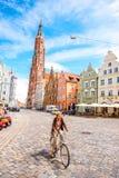 Landshut gammal stad i Tyskland Arkivfoton