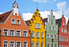 Landshut, Germany, Renaissance facades Royalty Free Stock Image