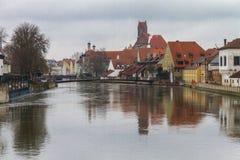 Landshut, Isar Fotografia Stock