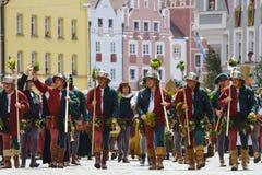 Landshut, Landshuter, свадьба, более низкая Бавария, Германия, Европа, торжество, парад, игры, фестиваль, праздненство, торжество Стоковая Фотография