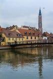 Landshut, MÃ ¼ hlensteg Στοκ Εικόνες