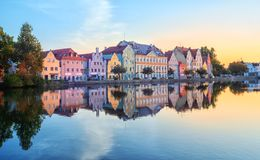 Landshut Old Town, Bavaria, Germany stock photo