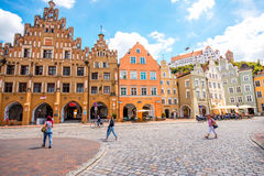 Landshut old town in Germany Royalty Free Stock Photo