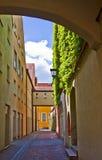 Landshut, pedestrian passage Royalty Free Stock Images