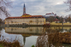 Landshut, vista no teatro da cidade Imagem de Stock
