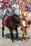 Landshut Wedding. Knight at Landshut Wedding. The Landshut Wedding German: Landshuter Hochzeit is one of the largest historical pageants in Europe Royalty Free Stock Images