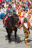 Landshut Wedding. Knight at Landshut Wedding. The Landshut Wedding German: Landshuter Hochzeit is one of the largest historical pageants in Europe Royalty Free Stock Photography