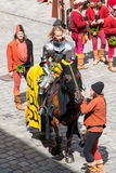 Landshut Wedding. Knight at Landshut Wedding. The Landshut Wedding German: Landshuter Hochzeit is one of the largest historical pageants in Europe Stock Images