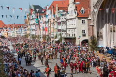 Landshut Wedding. Procession at Landshut Wedding. The Landshut Wedding German: Landshuter Hochzeit is one of the largest historical pageants in Europe Royalty Free Stock Photography
