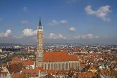 Landshut y catedral San Martín Fotografía de archivo