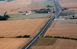 Landshuvudväg Arkivfoton