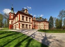 Landsitz Jilemnice in der Tschechischen Republik stockbilder