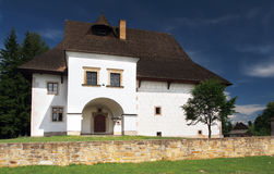 Landsitzhaus im Pribylina Museum Stockbild
