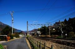 landsjärnväg arkivfoto