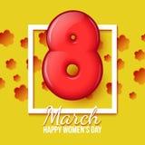 Landskampkvinna dag Mars 8 volym åtta Arkivbilder