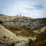 Landskap övergiven karriär i Moldavien Royaltyfri Fotografi