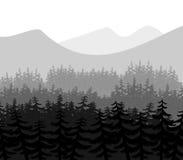 Landskap royaltyfri illustrationer