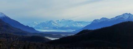 Landskap Alaska Arkivfoto