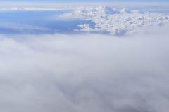 Landskap Amerika från fönsterflygplanet arkivfoton