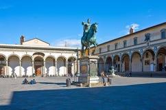 Landskap, arkitekturer och konst av staden av Florence Royaltyfri Bild