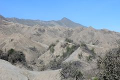 Landskap av ökenberget Arkivbilder