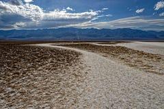 Landskap av öknen, Badlands, Death Valley, Kalifornien Arkivfoton