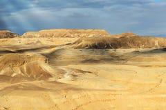 Landskap av öknen Negev Royaltyfri Fotografi