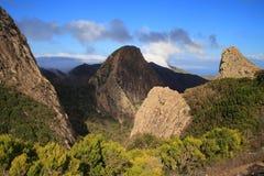 Landskap av ön av La Gomera Arkivbild