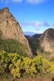 Landskap av ön av La Gomera Royaltyfria Foton