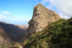 Landskap av ön av La Gomera Arkivbilder
