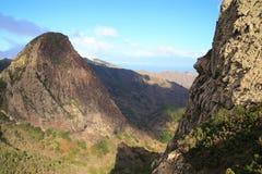 Landskap av ön av La Gomera Royaltyfria Bilder