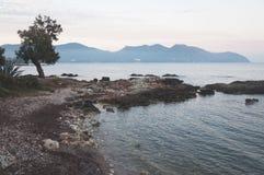 Landskap av ön av Mallorca i Spanien, Europa Fotografering för Bildbyråer