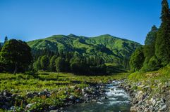 Landskap av Abchazien arkivfoton