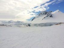 Landskap av Antarktis Arkivfoton