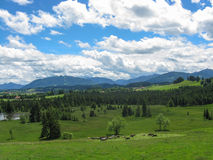 Landskap av Bayern Arkivbild