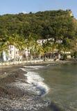 Landskap av Bellefontainein Martinique arkivfoton