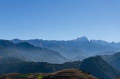 Landskap av berg Fotografering för Bildbyråer