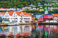 Landskap av Bergen, Norge royaltyfri bild