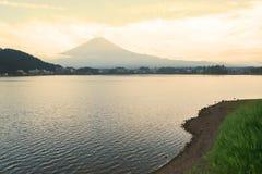 Landskap av berget Fuji Arkivfoton