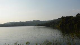 Landskap av berget i den Wang Bon behållaren Thailand stock video