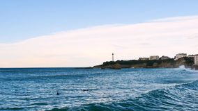 Landskap av Biarritz, i sydvästerna av Frankrike stock video