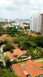 Landskap av bostadsområdet i Singapore arkivfoto