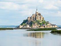 Landskap av Brittany och Mont Saint-Michel, Frankrike Royaltyfri Foto