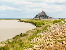Landskap av Brittany och Mont Saint-Michel, Frankrike Royaltyfria Foton
