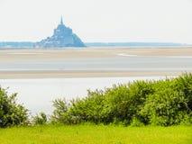 Landskap av Brittany och Mont Saint-Michel, Frankrike Royaltyfri Fotografi