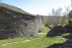 Landskap av Campillo de Ranas Arkivfoto