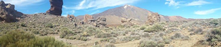 landskap av Canadas del Teide Arkivbild